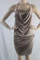 GUESS NEW WOMEN'S Sleeveless Draped T-Back Dress SZ L Color Brown