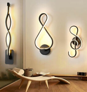 Modern Minimalist Wall Lamps Living Room Bedroom Bedside 16W AC96V-260V LED Lamp