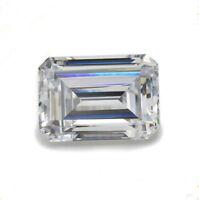 White Sapphire 8x10mm 5.60ct Emerald Faceted Cut Shape AAAAA VVS Loose Gemstone
