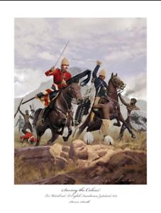 MELVILL COGHILL VC Rorkes Drift - Zulu War Art print Ltd ed Artist signed!