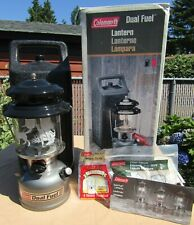 COLEMAN MODEL 285 DUAL FUEL LANTERN WITH CARRY CASE & ACCESSORIES & ORIGINAL BOX
