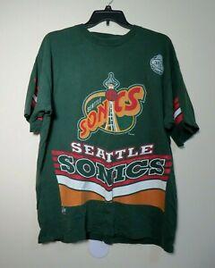 Vintage Seattle SONICS 1994 Silk Screened Special T Shirt Xlnt Cond. XXL MadeUSA