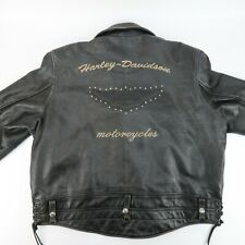 Harley Davidson ROAD WARRIOR V Twin Embossed Distressed Leather Jacket Size 3XL