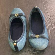 Michael Kors Ballet Flats Girls size 4 Denim