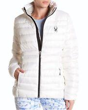 Spyder Prymo White Down Blend Full Zip Ski Winter Jacket Womens Sz L NWT 1115068