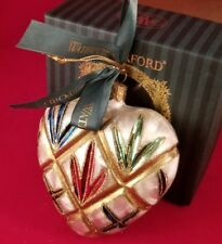 WATERFORD HOLIDAY HEIRLOOM ORNAMENT, LISMORE HEART