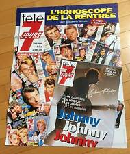► AFFICHE - JOHNNY HALLYDAY -  TELE 7 JOURS  - 80x60cm
