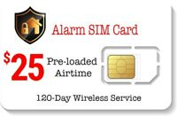 $25 Prepaid Alarm SIM Card for GSM Home Security Alarm System + GPS Tracker