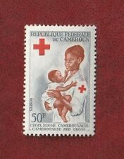 Timbre** CROIX ROUGE CAMEROUN 50F -  CAMEROONESE Red Cross