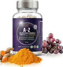 Multivitaminas y Minerales comprimidos para hombres, mujeres + la cúrcuma, extracto de semilla de uva