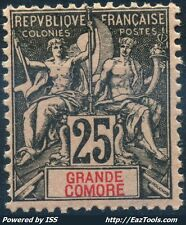GRANDE COMORE TYPE GROUPE N° 8 NEUF * AVEC CHARNIERE A VOIR
