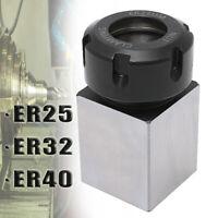 ER25/ER32/ER40 Square Collet Block Spring Chuck Collet Holder Lathe CNC  NEW