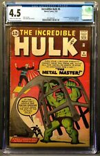 THE INCREDIBLE HULK #6 CGC 4.5 CR/OW PAGES 1ST APP TEEN BRIGADE & METAL MASTER