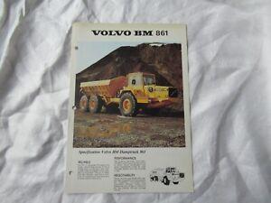 1979 Volvo BM 861 hauler dump truck brochure