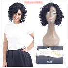 Short Bob Glueless Human Hair Wigs Nature Black Curly Wave For Black Women YS-8