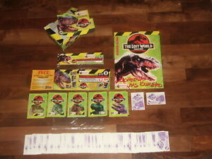 Jurassic Park Topps 1992 Complete Set, Empty Sticker album, Loose stickers &pack
