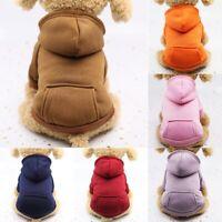 Pet Coat Dog Jacket Cat Warm Coral Fleece Clothing Hoodie Clothes Puppy Apparel