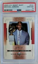 2003 03 UD Sweet Shot MJ Sweetness Michael Jordan #141, #'d /799, PSA 10, Pop 6