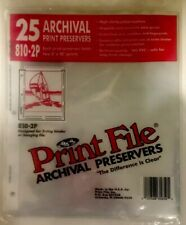 NEW Print File: Archival Print Preservers #810-2P (8x10 Prints) 25-Package