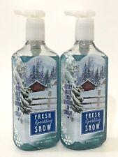 Lot 2 Fresh Sparkling Snow Bath & Body Works Deep Cleansing Hand Soap Wash 8 Oz