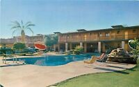 Phoenix Arizona~Western Village~Swimming Pool~1950s Postcard