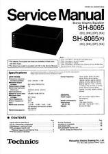TECHNICS SH-8065 SH 8065 - EQUALIZER - SERVICE MANUAL - REPAIR - English -