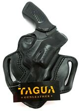 "TAGUA RH BLACK LEATHER THUMB BREAK OWB BELT HOLSTER for RUGER SP101 3"" REVOLVER"