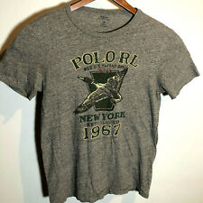 Polo Ralph Lauren S Small Classic Fit TShirt Gray 1967 New York All American USA