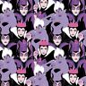 "Villians fabric Ursula Evil Queen and Maleficent. 100% Cotton 43"" wide 1/2 yard"