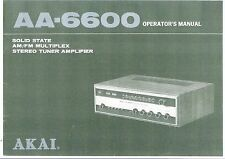 Akai  Bedienungsanleitung user manual owners manual  für AA- 6600