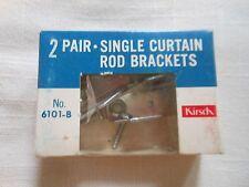Kirsch 2 Pair Single Curtain Rod Brackets Vintage 6101-B New