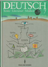 Lehrmittel Lesebuch Deutsch Klasse 7, Texte Literatur Medien, Volk und Wissen