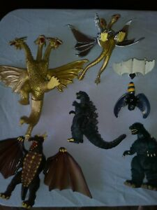 Godzilla Lot Of 5 Toho 1994-1995 Vintage Action Figures 4 inch