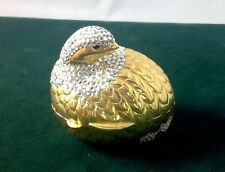 JUDITH LEIBER NEW SWAROVSKI CRYSTALS QUAIL BIRD PILL BOX