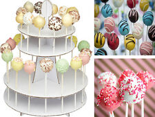 2 TIER CAKE POP DECORATING DISPLAY STAND WHITE CARDBOARD DECORATE MUFFIN PARTY