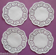 """ROSIE 10cm or 4"""" WHITE PAPER LACE DOILIES x 20"""