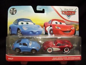 Disney Pixar Cars Metal Cruisin Lightning McQueen & Sally.