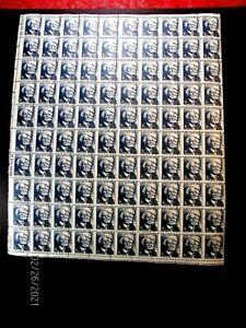 1280 2c Wright sheet/100 efo misperf & miscut, vf MNH ecv 500.+*