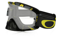 MASQUE CROSS OAKLEY O FRAME 2.0 MX INTIMIDATOR GUNMETAL JAUNE ECRAN CLAIR