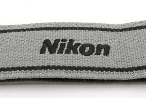 *NEAR MINT* Genuine NIKON CAMERA NECK STRAP Black / Gray For DSLR / SLR #JAPAN
