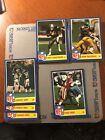 1984 TOPPS FOOTBALL INSERT NFL STAR SET 6 CARD LOT Nrmnt Mnt