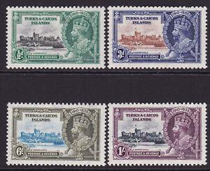 Turks & Caicos. 1935. SG 187-190, Silver jubilee. Fine mounted mint.