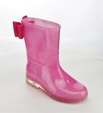 GLITTER FANCY BOW RAIN BOOTS YOUTH SIZES