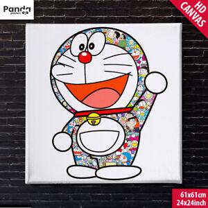 Takashi Murakami Doraemon Canvas Poster (60x60cm/24x24in) Fujiko F Fujio Art
