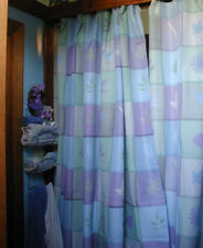 Springs 2 Shower Curtains Fabric Reinforced Holes Runner Table Scarf Blue Leaves