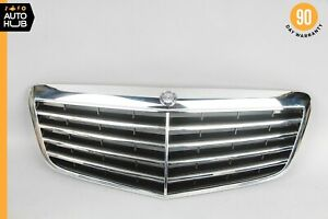 07-09 Mercedes W211 E350 Front Hood Radiator Grille Grill Chrome Aftermarket