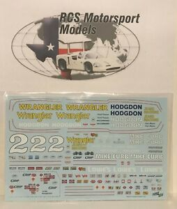 POWERSLIDE DALE EARNHARDT 1979-80 WRANGLER/MIKE CURB DECAL FOR SALVINOS KITS