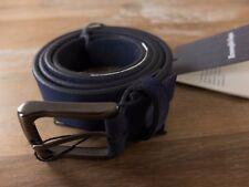 ERMENEGILDO ZEGNA blue suede belt - Size 105 (best fits 38-39 inch waist) - NWT