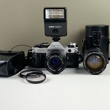 Canon AE-1 Program 35mm Manual SLR Film Camera with 50mm 1:1.8 Lens++ Untested