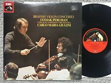 Brahms - Violin Concerto - Perlman - Giulini - EMI stereo / quad LP ASD 3385